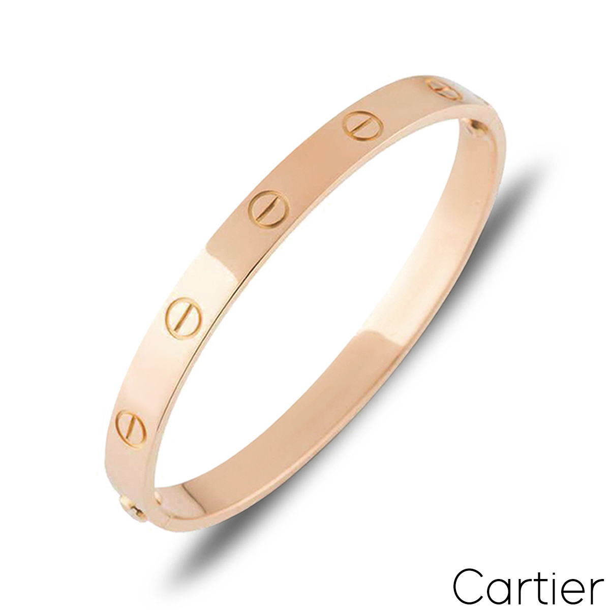 Cartier Rose Gold Plain Love Bracelet Size 20 B6035620